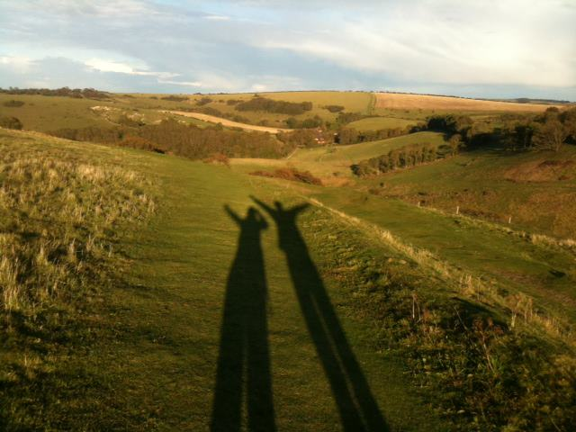 Shadows on Devil's Dyke